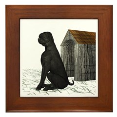 Dog (Black Labrador) Framed Tile