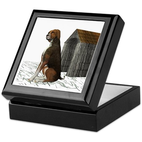 Dog (Hound Brown N Tan) Keepsake Box