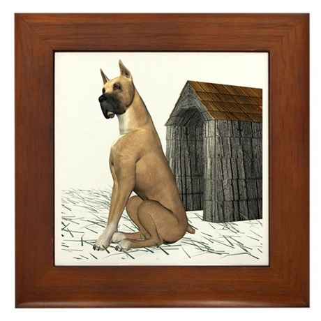 Dog (Great Dane) Framed Tile