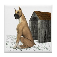 Dog (Great Dane) Tile Coaster