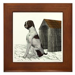 Dog (German Shorthaired) Framed Tile
