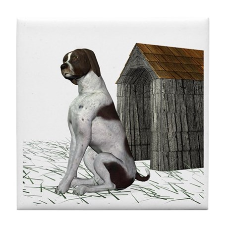 Dog (German Shorthair) Tile Coaster