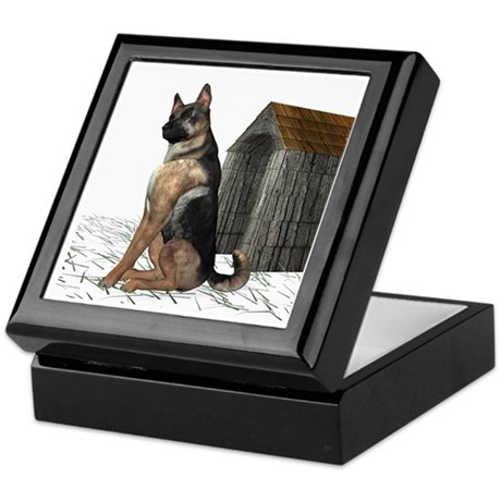 Dog (German Shepherd) Keepsake Box