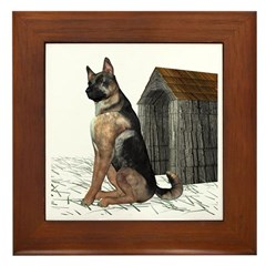 Dog (German Shepherd) Framed Tile