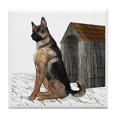 Dog (German Shepherd) Tile Coaster