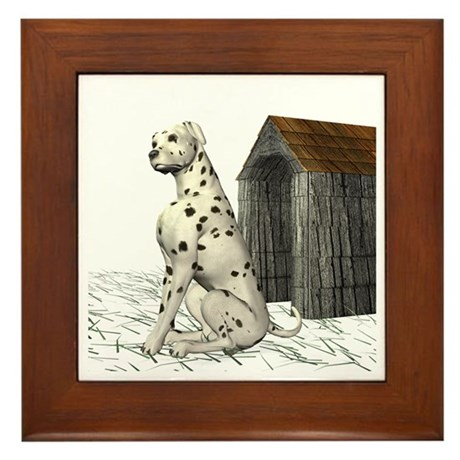 Dog (Dalmation) Framed Tile