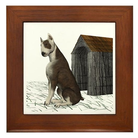 Dog (Bull Terrior) Framed Tile