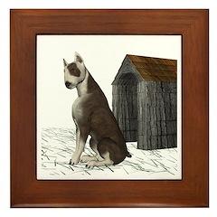 Dog (Bull Terrior) Framed Tile