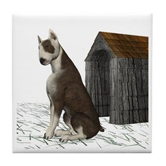 Dog (Bull Terrior) Tile Coaster
