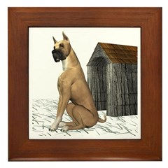 Dog (Boxer) Framed Tile
