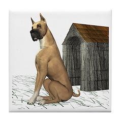 Dog (Boxer) Tile Coaster