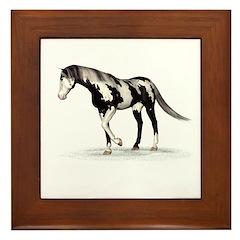 Horse (Piebald) Framed Tile