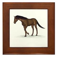 Horse (Liver Chestnut) Framed Tile