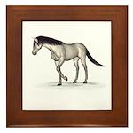 Horse (Grey) Framed Tile