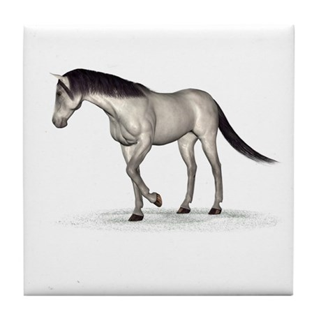 Horse (Grey) Tile Coaster
