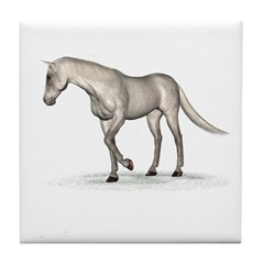 Horse (Fleabitten) Tile Coaster