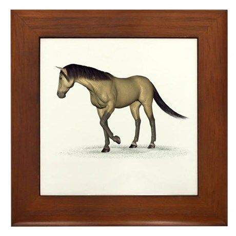 Horse (Dun) Framed Tile