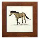 Horse (Dun) Framed Tile