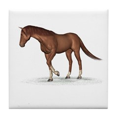 Horse (Chestnut) Tile Coaster