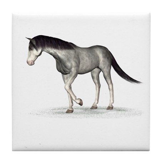 Horse (Blue Roan) Tile Coaster