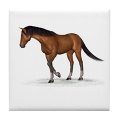 Horse (Bay) Tile Coaster
