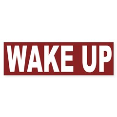 Wake Up (bumper sticker)
