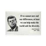 John F. Kennedy 4 Rectangle Magnet (10 pack)
