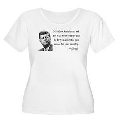 John F. Kennedy 5 Women's Plus Size Scoop Neck T-S