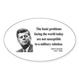 John F. Kennedy 7 Oval Decal