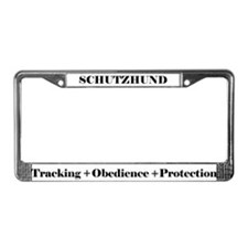 Cute German shepherd dog sports License Plate Frame