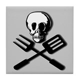 """DEADLY FOOD"" Tile Coaster"
