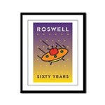 Roswell UFO w/background Framed Panel Print