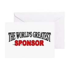 """""""The World's Greatest Sponsor"""" Greeting Card"""