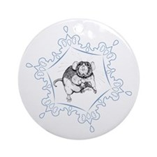 Dumbo Snowflake Ornament (Round)