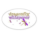 Dragonfly Whisperer 2 Oval Decal