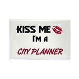 Kiss Me I'm a CITY PLANNER Rectangle Magnet (10 pa