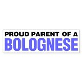 Proud Parent of a Bolognese Car Sticker