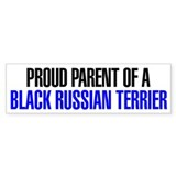Proud Parent of a Black Russian Terrier Bumper Stickers