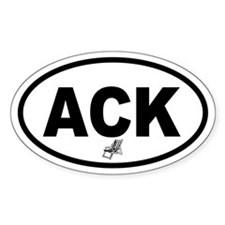 ACK Nantucket Beach Chair Oval Decal