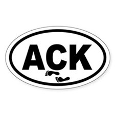 ACK Nantucket Footprints Oval Decal