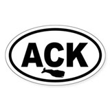 ACK Nantucket Whale Oval Decal