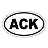 ACK Nantucket Oval Bumper Stickers
