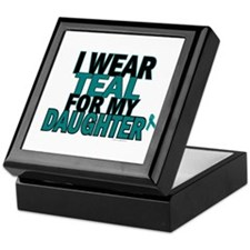 I Wear Teal For My Daughter 5 Keepsake Box