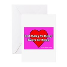 Don't Marry For Money Greeting Cards (Pk of 10