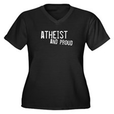 atheist and proud Women's Plus Size V-Neck
