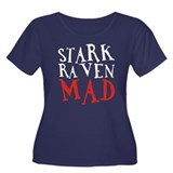 Stark Raven Mad Women's Plus Size Scoop Neck Dark