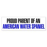 Proud Parent of an American Water Spaniel Bumper Sticker