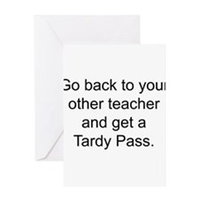 Cute High school teacher Greeting Card
