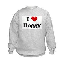 I Love Boggy Sweatshirt