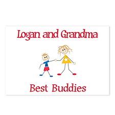 Logan & Grandma - Buddies Postcards (Package of 8)